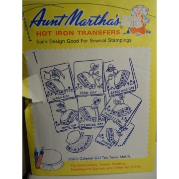 Aunt Martha's Hot Iron Transfers Patterns 3553
