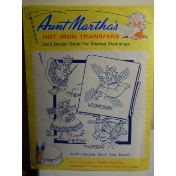 Aunt Martha's Hot Iron Transfers Patterns 3597