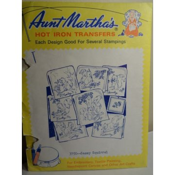 Aunt Martha's Hot Iron Transfers Patterns 3750
