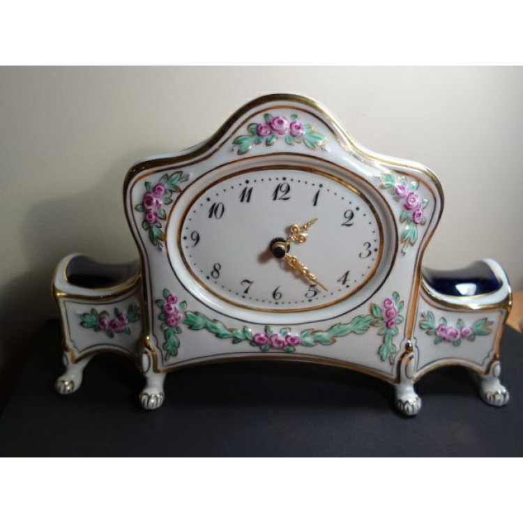 Antiques Collectibles: Royal Dux Bohemia Hanas Komtesa Porcelain Clock