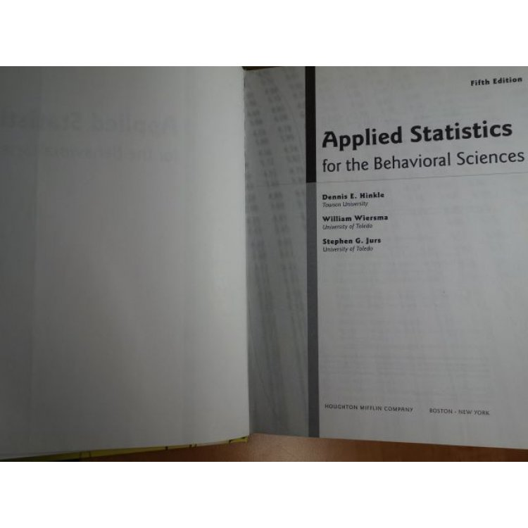 Applied statistics for the behavioral sciences 5th edition