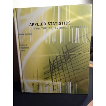 Applied Statistics for the Behavioral Sciences,5th Ed.