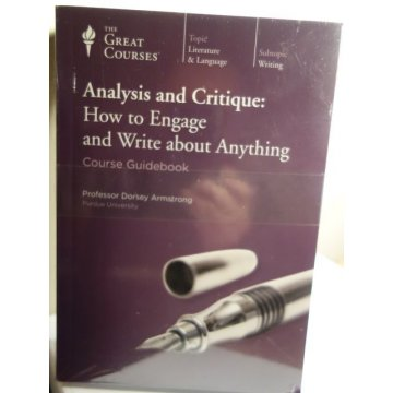 The Great Courses: Analysis and Critique, Audio CD