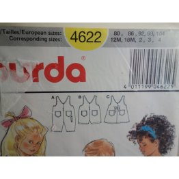 BURDA Sewing Pattern 4622