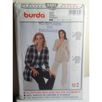 BURDA Sewing Pattern 8481