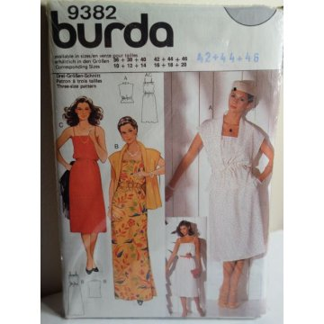 BURDA Sewing Pattern 9382