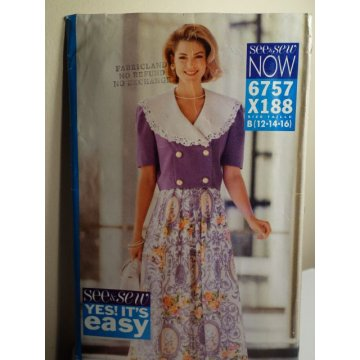 Butterick See and Sew Sewing Pattern 6757