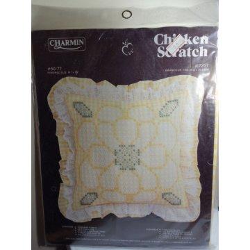 Janlynn Charmin Chicken Scratch Pillow