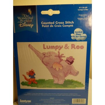 Janlynn Cross Stitch, Disney Lumpy and Roo
