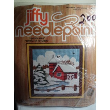 Jiffy Needlepoint, Winter Barn No. 5749CN