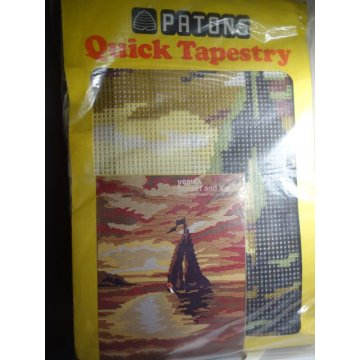 PATONS Quick Tapestry Kit, Sunset and Yacht VERY RARE