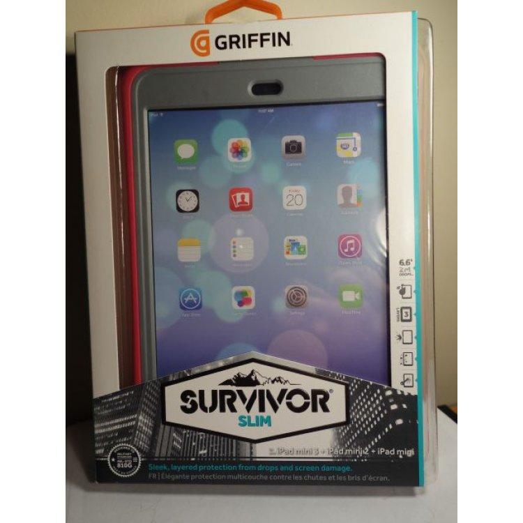 buy popular 2e4dc 20728 Griffin Survivor Slim Case Apple iPad mini 1 2 3 - PINK