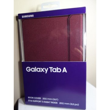 Samsung Book Cover for Galaxy Tab A 8 - BURGUNDY No 2