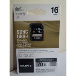 SONY - 16GB SD SDHC UHS-I Memory Card