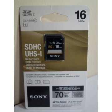 SONY - 16GB SD SDHC UHS-I Memory Card