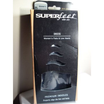 SUPERfeet Dress, Womens Low Heels, .75 Premium Insole