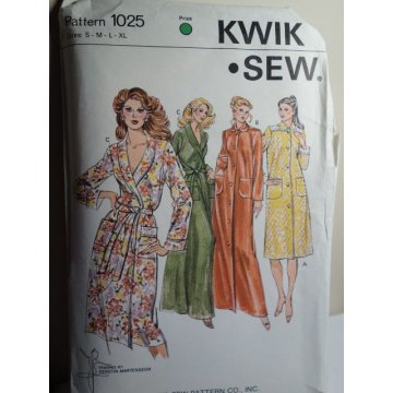 KWIK SEW Sewing Pattern 1025
