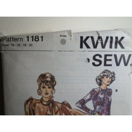 KWIK SEW Sewing Pattern 1181