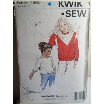 KWIK SEW Sewing Pattern 1362