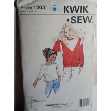 KWIK SEW Sewing Pattern 1363