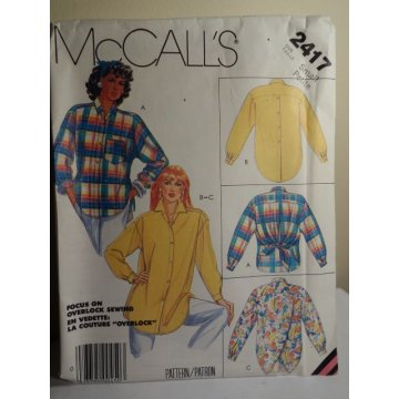 McCalls Sewing Pattern 2417