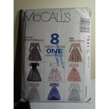 McCalls Sewing Pattern 7541