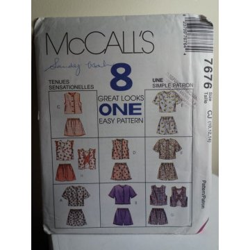 McCalls Sewing Pattern 7676