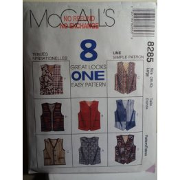 McCalls Sewing Pattern 8285