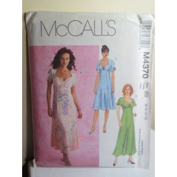 McCalls Sewing Pattern 4370