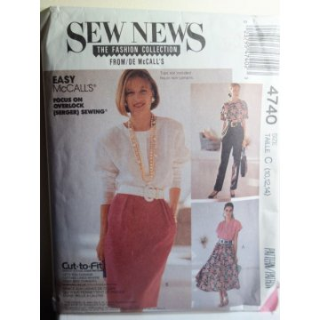 McCalls Sewing Pattern 4740