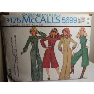 McCalls Sewing Pattern 5699