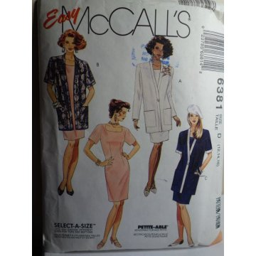 McCalls Sewing Pattern 6381
