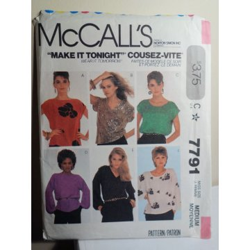 McCalls Sewing Pattern 7791