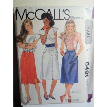 McCalls Sewing Pattern 8481