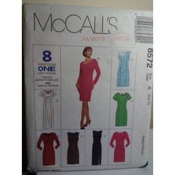 McCalls Sewing Pattern 8572