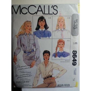 McCalls Sewing Pattern 8649