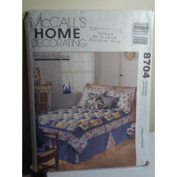 McCalls Sewing Pattern 8704