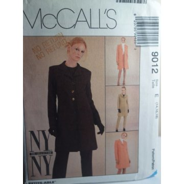 McCalls Sewing Pattern 9012