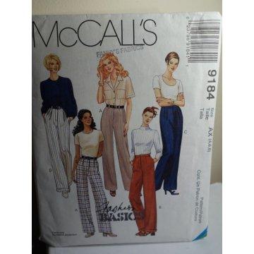 McCalls Sewing Pattern 9184