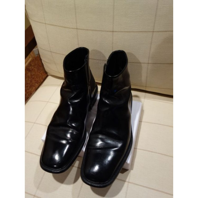 prada mens low ankle boots all leather casual 6 5