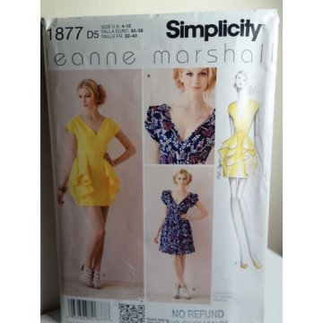 Simplicity Sewing Pattern 1877