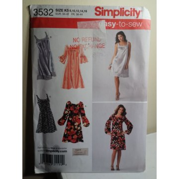 Simplicity Sewing Pattern 3532
