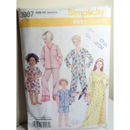 Simplicity Sewing Pattern 3987