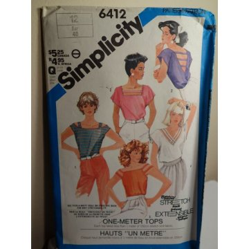 Simplicity Sewing Pattern 6412