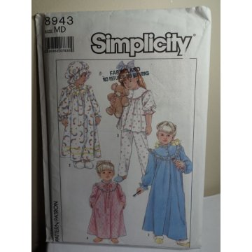 Simplicity Sewing Pattern 8943