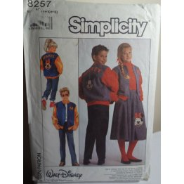 Simplicity Walt Disney Sewing Pattern 8257