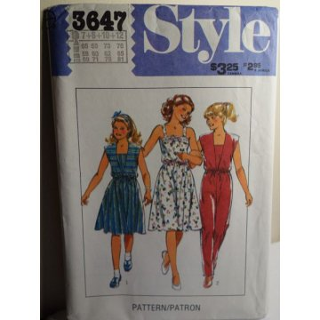 Style Sewing Pattern 3647