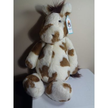 Jellycat London Medium Bashful Pinto Pony Plush Toy