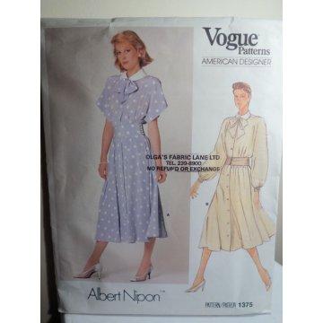 Vogue Albert Nipon Sewing Pattern 1375