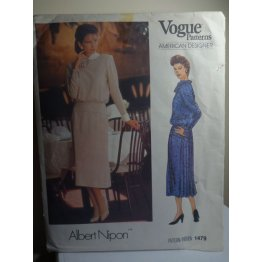 Vogue Albert Nipon Sewing Pattern 1479